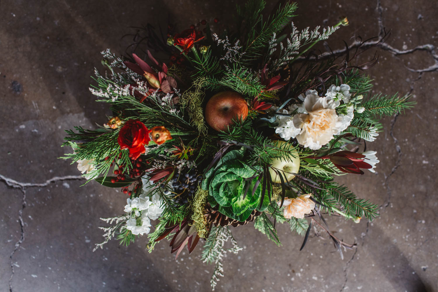 evergreen christmas centerpieces for delivery