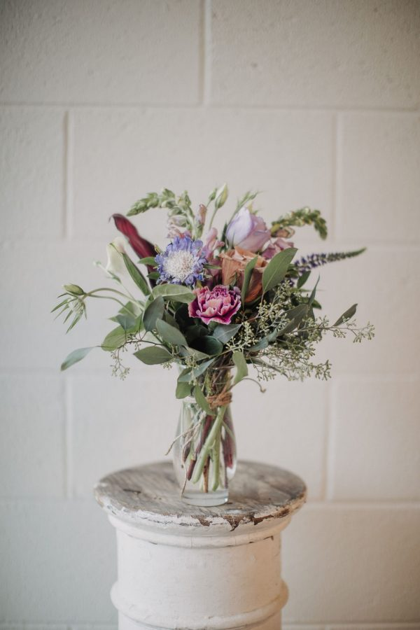Example of our small flower arrangement.