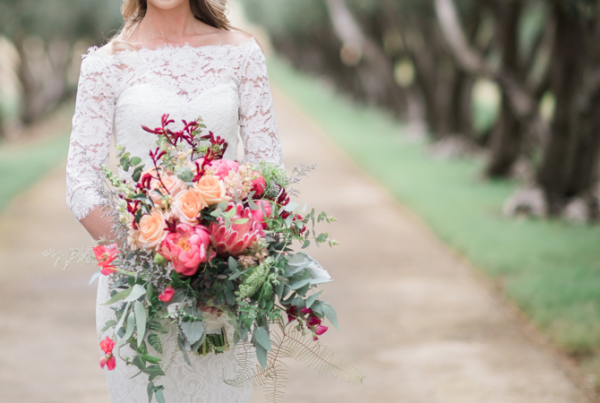 bridal bouquet with peonies - mcconnell foundation