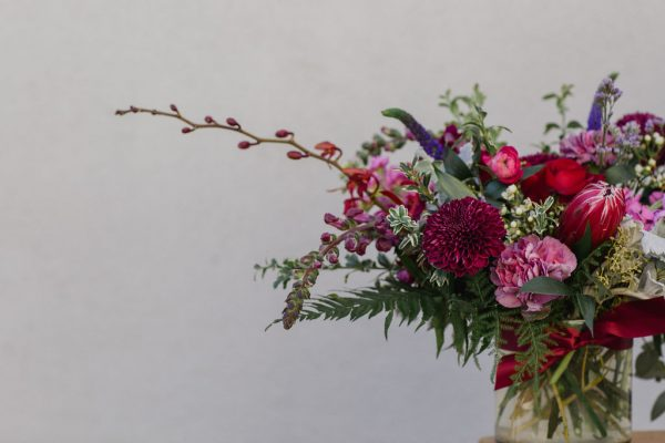Detail photo of our valentines day arrangement 2020